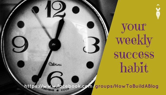 weekly success habit