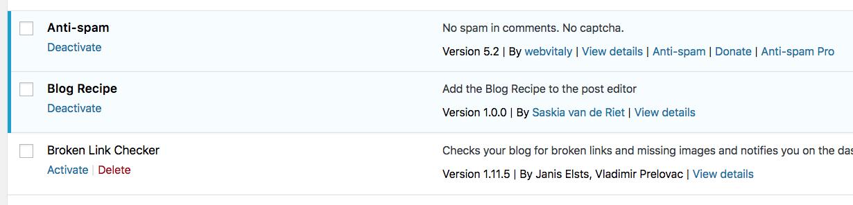 Blog Recipe plugin